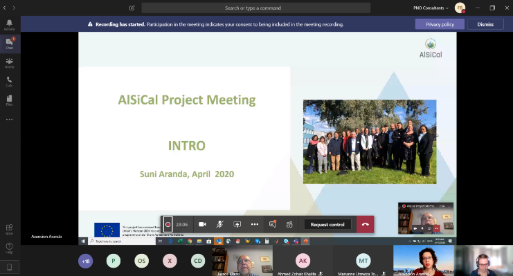 AlSiCal online consortium meeting due to COVID19