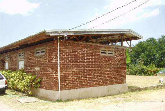Building in Jamaica built from bauxite residue